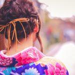 成人式2018の髪型で編み込みは低めが可愛い!清楚で小顔効果もあり